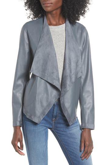 Двусторонняя куртка из искусственной кожи с драпировкой спереди Teagan BB Dakota