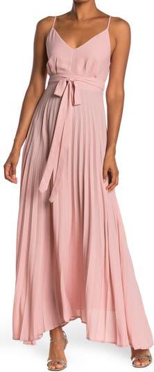 Макси-платье со складками и V-образным вырезом KENEDIK