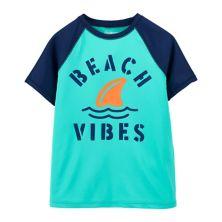 Boys 4-14 OshKosh B'gosh® Beach Vibes Rashguard Swimsuit Top OshKosh B'gosh