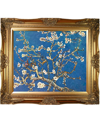 "By Overstockart Branches of An Almond Tree In Blossom with Victorian Frame, 28"" x 32"" La Pastiche"