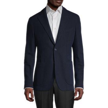 Пиджак классического кроя из меланжевой шерсти из натуральной шерсти LUBIAM