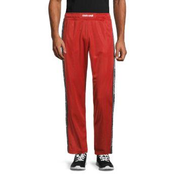 Спортивные брюки с тесьмой с логотипом Roberto cavalli SPORT