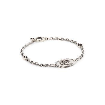Aged Sterling Silver GG Marmont Bracelet GUCCI