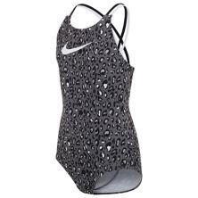 Сплошной купальник Nike с принтом гепарда и спиной на спине для девочек 7–16 лет Nike