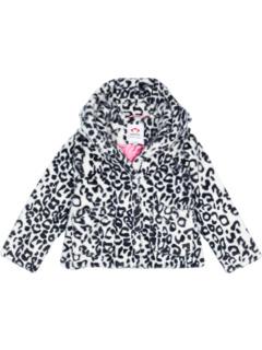 Cleo Faux Fur Animal Print Coat (Toddler/Little Kids/Big Kids) Appaman Kids