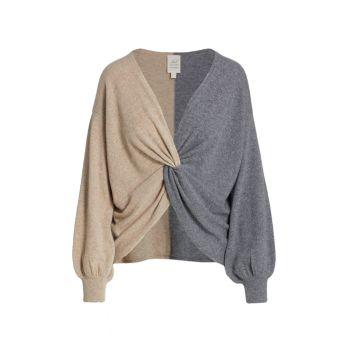 Двухцветный кашемировый свитер Esme Cinq a Sept