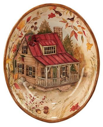 Сервировочная чаша из соснового леса Certified International