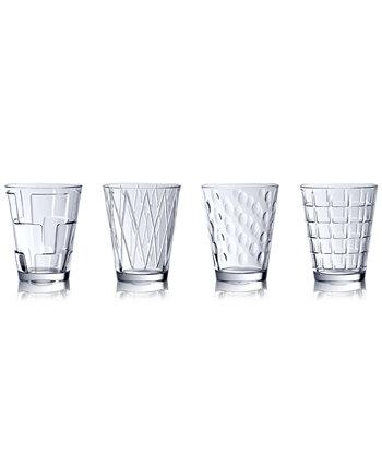 Одетые прозрачные стаканы ассорти, набор из 4 Villeroy & Boch
