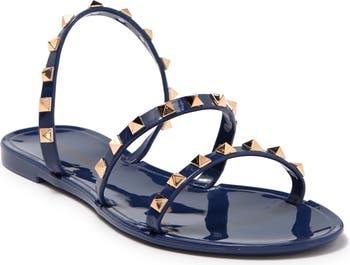 Лакированные сандалии с заклепками Wild Diva Lounge