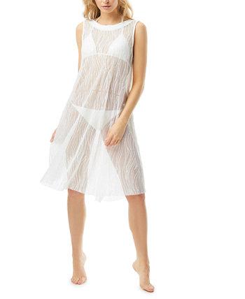 Приталенное платье с блестками и высоким вырезом Carmen Marc Valvo