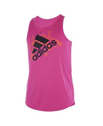Big Girls Sleeveless AEROREADY Lapped Tank Top Adidas