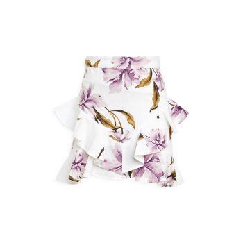 Юбка с цветочным принтом и оборками Girl's Hailey Bardot Junior