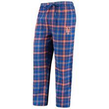 Men's Concepts Sport Royal/Orange New York Mets Team Ultimate Plaid Flannel Pants Unbranded