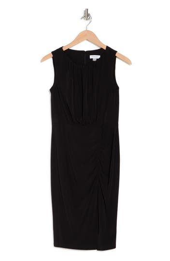 MJ Rouched Short Dress Calvin Klein