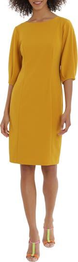Мини-платье с объемными рукавами Maggy London