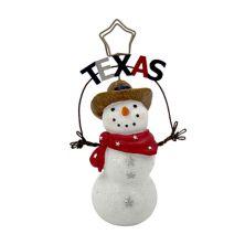 St. Nicholas Square® Texas Snowman 1-Photo Clip Table Decor St. Nicholas Square