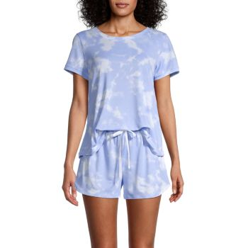 2-Piece Tie-Dye Pajama Set Kensie
