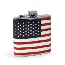Reagan American Flag 6oz Flask by Bey-Burk Unbranded
