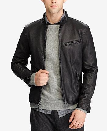 Мужская кожаная куртка Café Racer Ralph Lauren