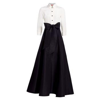 Шелковое платье-тренч Icon Contrast Carolina Herrera
