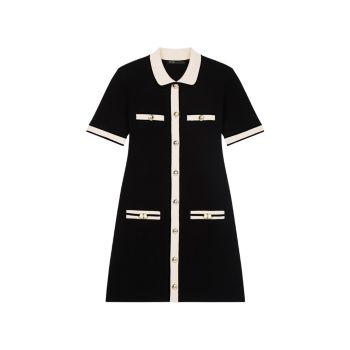 Мини-платье из эластичного трикотажа Maje