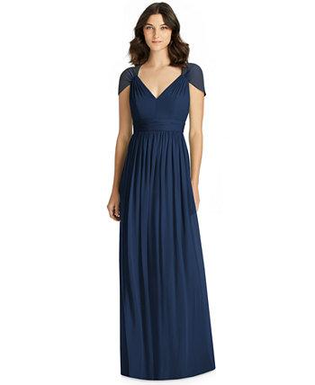 Шифоновое платье с вырезом на спине Jenny Packham