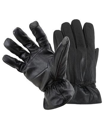 Мужские кожаные умные перчатки Status