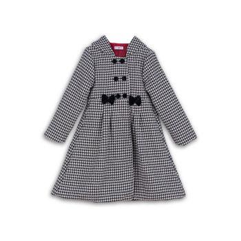 Маленькая девочка & amp; Пальто с капюшоном Tiffany с узором гусиные лапки для девочек Joe-Ella