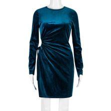 Juniors' Speechless Long Sleeve Velvet Bodycon Dress Speechless