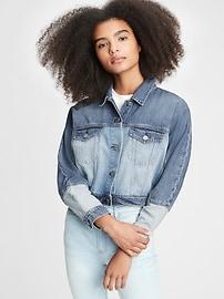 Укороченная джинсовая куртка Teen Dolman Gap
