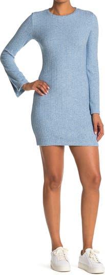 Трикотажное платье в рубчик с разрезом Lucia NSR