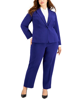 Брючный костюм больших размеров на одной пуговице Le Suit