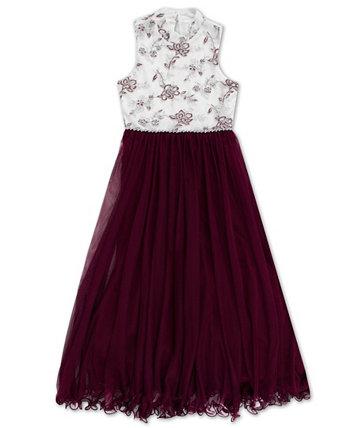 Big Girls Embroided Bodice Maxi Dress Speechless