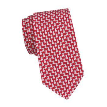 Шелковый галстук Man Car Salvatore Ferragamo