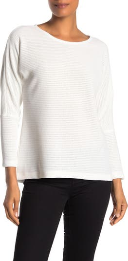 Пуловер с высоким / низким вырезом из синели в рубчик Chenault
