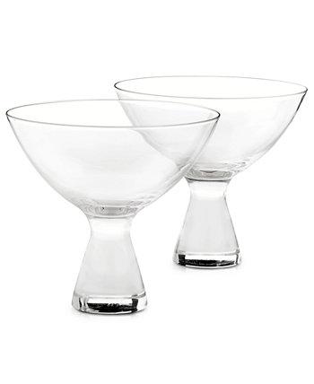 Бокалы для мартини Plateau, набор из 2 штук, Created for Macy's Hotel Collection