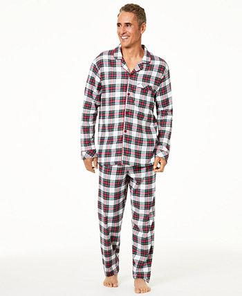 Подходящий мужской семейный пижамный комплект Stewart Plaid, созданный для Macy's Family Pajamas