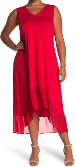 Платье с V-образным вырезом, высокое / низкое Spense