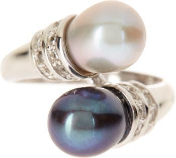 Кольцо с окрашенным двойным культивированным пресноводным жемчугом 7-8 мм Splendid Pearls