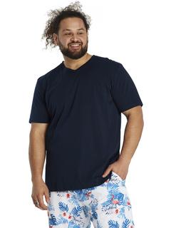 Большая и высокая футболка с V-образным вырезом Essential Johnny Bigg