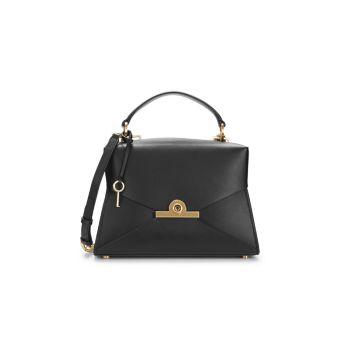 Кожаная сумка-портфель трапециевидной формы ZAC Zac Posen