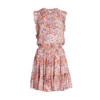 Мини-платье Triny с цветочным принтом Poupette St Barth
