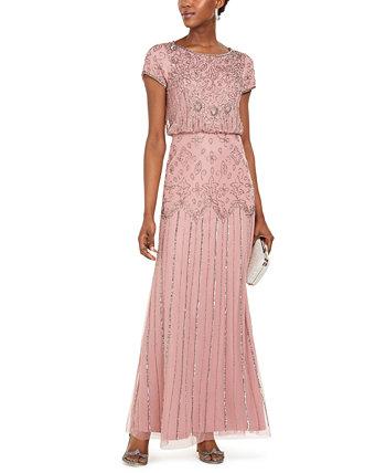 Бальное платье с коротким рукавом Adrianna Papell