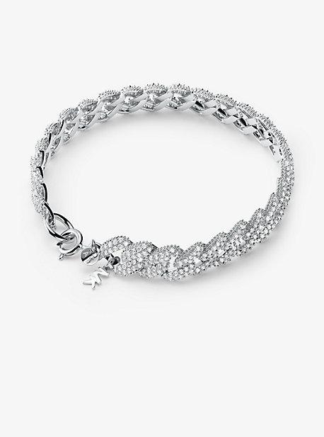 Браслет с паве из серебра с покрытием из драгоценных металлов Michael Kors