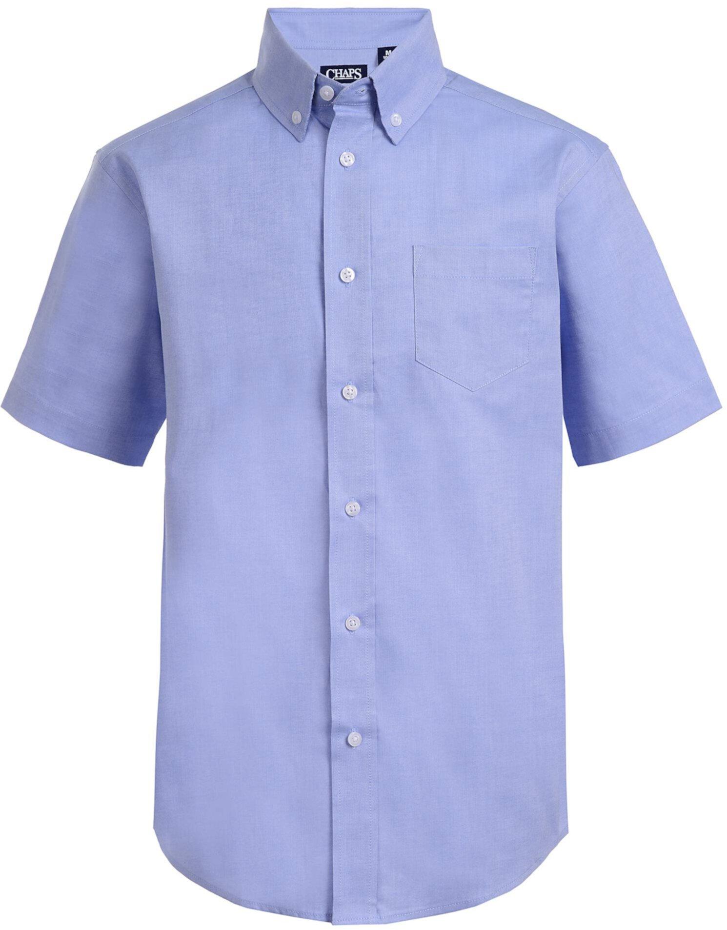 Оксфордская классическая рубашка с короткими рукавами и пуговицами CHAPS