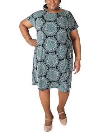 Платье-футляр с принтом больших размеров Robbie Bee