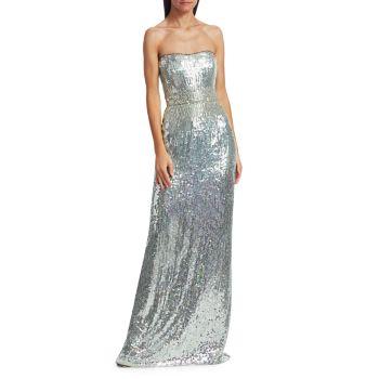 Платье Mirabelle с пайетками без бретелек Jenny Packham