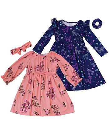 Комплект из 4 предметов с принтом для маленьких девочек Blueberi Boulevard