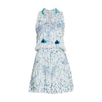 Мини-платье с принтом Clara Poupette St Barth