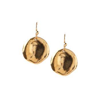 Позолоченные серьги-капли из золота 18 карат Chan Luu